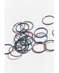 Urban Outfitters - Blue Rainbow Braid Ring Set - Lyst