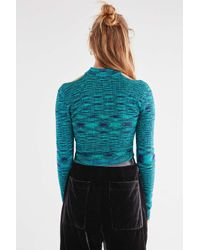 Urban Outfitters - Blue Uo Mallory Mock-neck Cut-out Sweater - Lyst