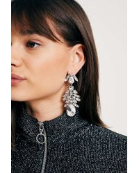 Urban Outfitters - Metallic Large Rhinestone Cluster Drop Earrings - Lyst