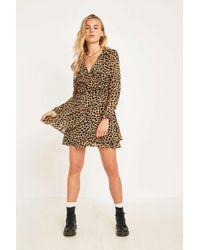 6a9a05db33fa2 Free People Frenchie Leopard Print Mini Dress - Womens Xs in Brown ...