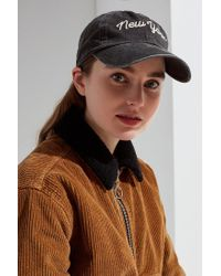 Urban Outfitters - Black New York Raglan Wash Hat - Lyst