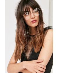 Urban Outfitters - Metallic Retro Oversized Readers - Lyst