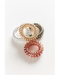 Urban Outfitters - Multicolor Telephone Cord Hair Tie Set - Lyst