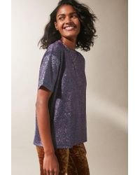 Urban Outfitters - Metallic Uo Sequin Ombre Tee - Lyst