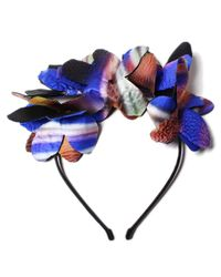 Noel Stewart | Metallic Printed Silk Hairband | Lyst