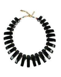 Lizzie Fortunato | Black Tile Necklace | Lyst