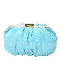 Philippe Roucou | Multicolor Peppermint Python Clutch | Lyst