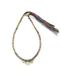 Alyssa Norton - Multicolor Multicoloured Rhinestone Necklace - Lyst