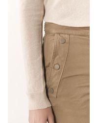 Vanessa Bruno - Natural Compact Cotton Gabardine Hadrian Flare Mom Jeans - Lyst