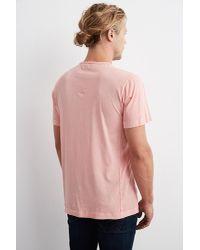 Velvet By Graham & Spencer - Pink Langley Short Sleeve Pigment Dye Whisper Tee for Men - Lyst