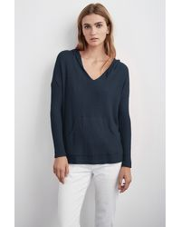 Velvet By Graham & Spencer - Blue Alona Thermal Knit Top - Lyst