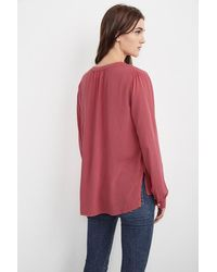 Velvet By Graham & Spencer | Multicolor Costella Long Sleeve Challis Top | Lyst