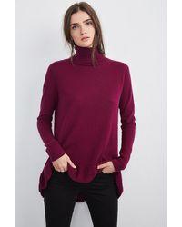 Velvet By Graham & Spencer - Purple Merrit Turtleneck Cashmere Sweater - Lyst