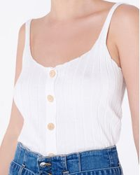 Veronica Beard White Lola Tank