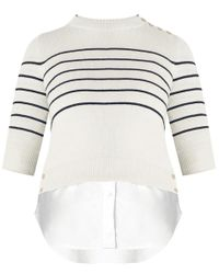 Veronica Beard - Blue Knot Combo Sweater - Lyst