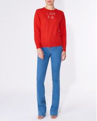 Veronica Beard - Red I Want It All Sweater Exclusive - Lyst