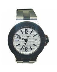BVLGARI - Black Pre-owned Diagono Watch - Lyst