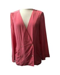 Chanel - Pre-owned Pink Silk Top - Lyst