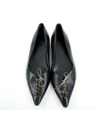 Jil Sander - Black Leather Flats - Lyst