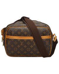 Louis Vuitton - Brown Pre-owned Reporter Cloth Handbag - Lyst