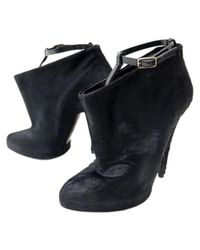 Givenchy - Black Pre-owned Pony-style Calfskin Ankle Boots - Lyst
