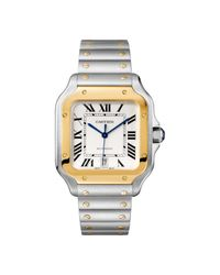 Cartier - White Santos 100 Xl Watch for Men - Lyst