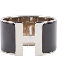 Hermès - Metallic Pre-owned Clic H Bracelet - Lyst