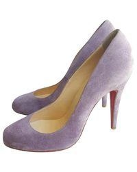 Christian Louboutin - Purple Pre-owned Simple Pump Heels - Lyst