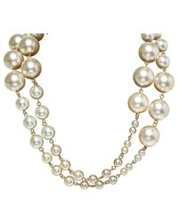 Chanel - White Pre-owned Necklace - Lyst