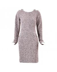 Chanel - Pink Pre-owned Wool Mid-length Dress - Lyst
