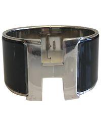 Hermès | Black Pre-owned Clic H Bracelet | Lyst