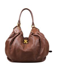 Louis Vuitton - Brown Pre-owned Mahina Leather Handbag - Lyst