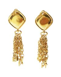 Chanel - Metallic Pre-owned Gold Metal Earrings - Lyst