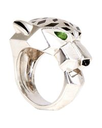 Cartier | Metallic Pre-owned Panther Ring In White Gold | Lyst