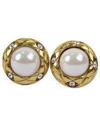 Chanel - Metallic Pre-owned Gold Metal Earrings - Lyst