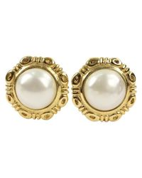 Chanel - Metallic Pre-owned Metal Earrings - Lyst