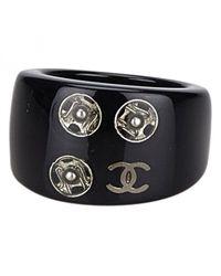 Chanel - Black Ring - Lyst