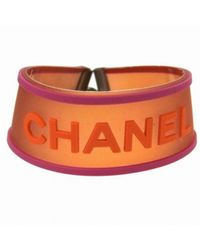 Chanel - Pre-owned Orange Plastic Bracelet - Lyst