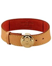 Louis Vuitton - Brown Pre-owned Leather Bracelet - Lyst
