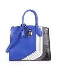Louis Vuitton - Pre-owned City Steamer Blue Leather Handbag - Lyst