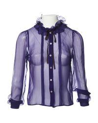Miu Miu - Purple Pre-owned Silk Shirt - Lyst