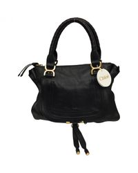 Chloé | Black Pre-owned Marcie Leather Satchel | Lyst