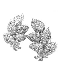 BVLGARI - Metallic Pre-owned Platinum Earrings - Lyst