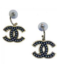 Chanel - Black Pre-owned Earrings - Lyst