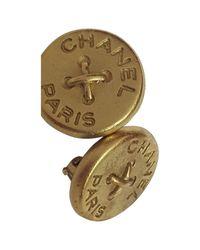 Chanel | Metallic Pre-owned Earrings | Lyst