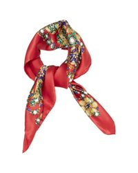 Chanel - Red Pre-owned Silk Neckerchief - Lyst
