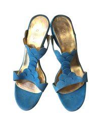 Céline - Blue Pre-owned Sandals - Lyst