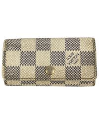 Louis Vuitton - White Pre-owned Cloth Key Ring - Lyst