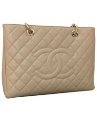 Chanel - Natural Pre-owned Grand Shopping Leather Handbag - Lyst