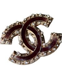 Chanel - Brown Pin & Brooche - Lyst